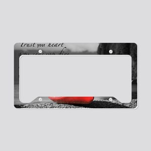live by love License Plate Holder