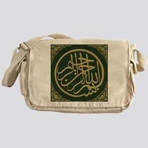 bismillah_gold_filla_on_green_lg Messenger Bag