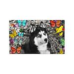 Irie Siberian Husky Butterflies 3'x5' Area Rug