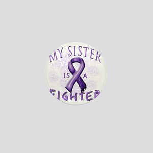My Sister Is A Fighter Purple Mini Button