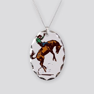 BRONC5 Necklace Oval Charm