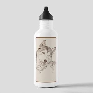 Siberian_Husky_KlineSq Stainless Water Bottle 1.0L