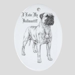 THE Bullmastiff Oval Ornament