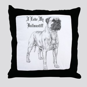 THE Bullmastiff Throw Pillow