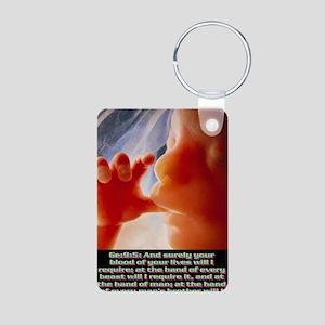 Genesis9@5(large poster) Aluminum Photo Keychain