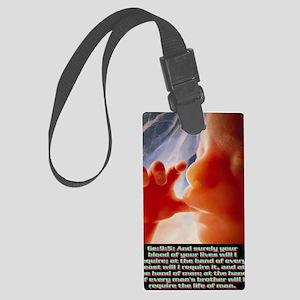 Genesis9@5(large poster) Large Luggage Tag