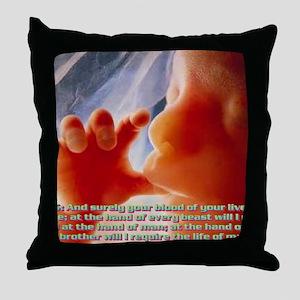 Genesis9@5(large framed print) Throw Pillow