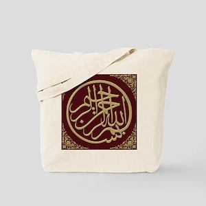 bismillah_gold_filla_on_maroon_lg Tote Bag