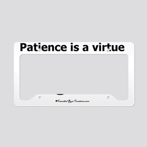 impatience_sq2 License Plate Holder