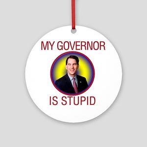 stupid-gov Round Ornament