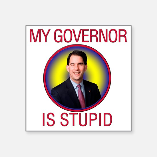 "stupid-gov Square Sticker 3"" x 3"""