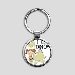 LIKEDINOS Round Keychain