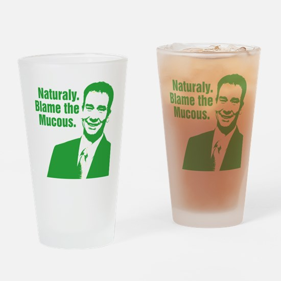 MQS_GREEN_CORRECT Drinking Glass