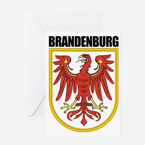 Brandenburg (blk) Greeting Card