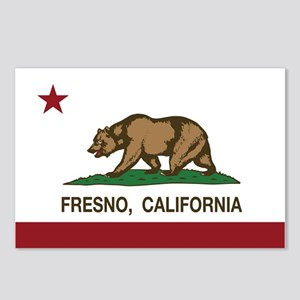 california flag fresno Postcards (Package of 8)