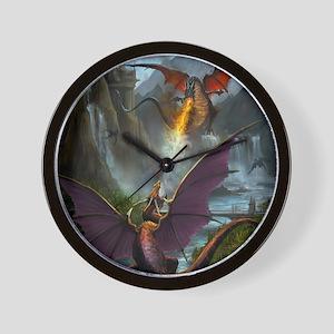 459_ipad_case-DragonsPlay-01 Wall Clock