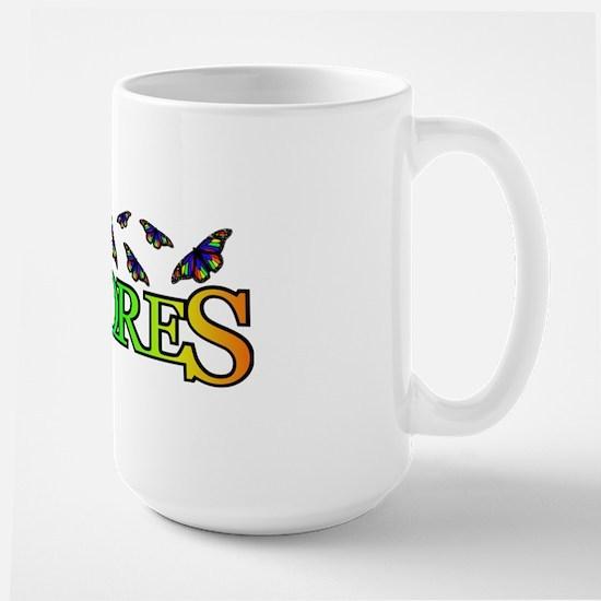 DeColores Butterflies Mug Large Mug