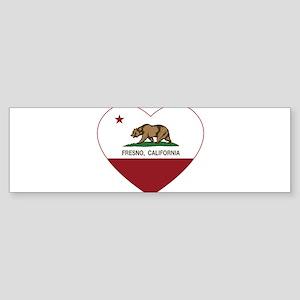 california flag fresno heart Bumper Sticker