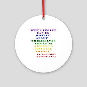 Choi rainbow Round Ornament