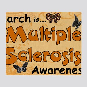 March Multiple Sclerosis Awareness Throw Blanket