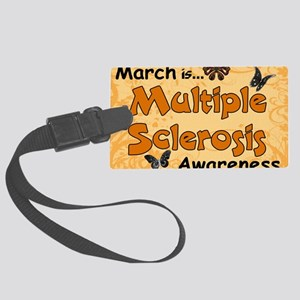 March Multiple Sclerosis Awarene Large Luggage Tag