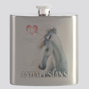 I Love Andalusians Flask