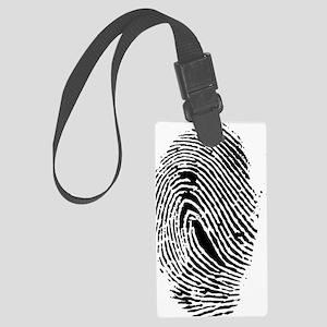 Fingerprint Large Luggage Tag