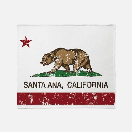 california flag santa ana distressed Throw Blanket