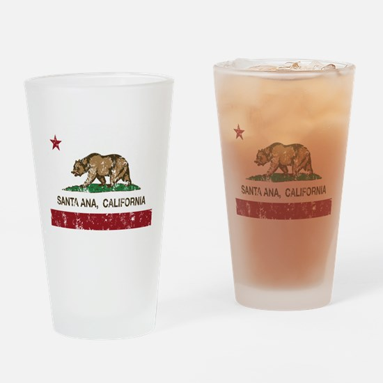 california flag santa ana distressed Drinking Glas