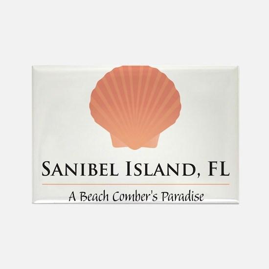 Sanibel-Shell Rectangle Magnet
