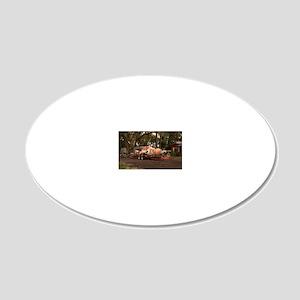 14x10_flatbed_roadkill 20x12 Oval Wall Decal