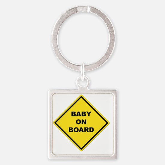 BABYONBOARD Square Keychain
