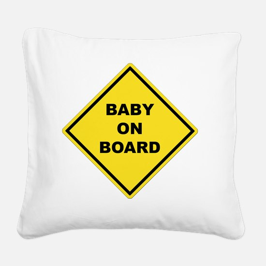 BABYONBOARD Square Canvas Pillow