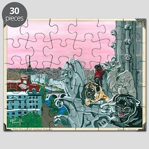 Traveling Pugs Notre Dame PARIS Puzzle