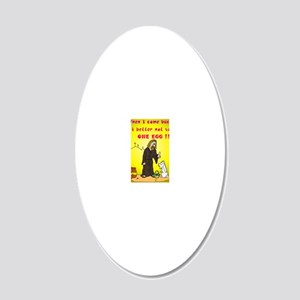 jesusnoegg 20x12 Oval Wall Decal
