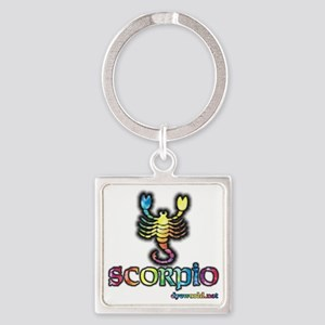 zodiac-scorpio Square Keychain