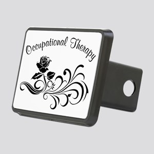 ot rose scroll Rectangular Hitch Cover