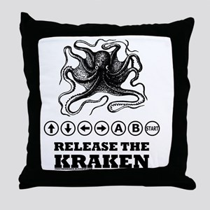 Kraken Release Cheat Code Throw Pillow