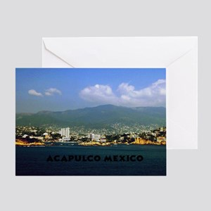 acapulco label12x18 Greeting Card