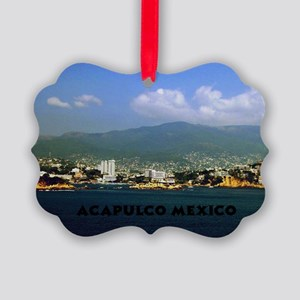 acapulco label12x18 Picture Ornament