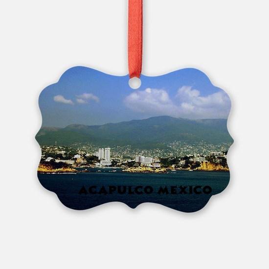 acapulco label12x18 Ornament