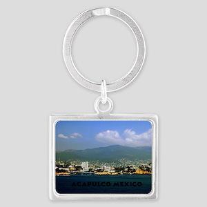 acapulco label12x18 Landscape Keychain