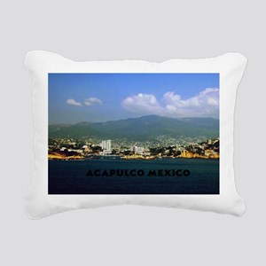 acapulco label12x18 Rectangular Canvas Pillow