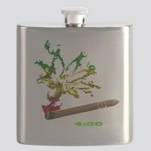rasta with white letters copy Flask
