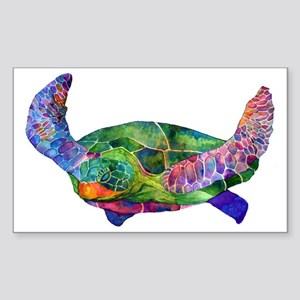 sea turtle Sticker (Rectangle)