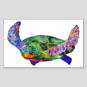 sea turtle Sticker (Rectangle)