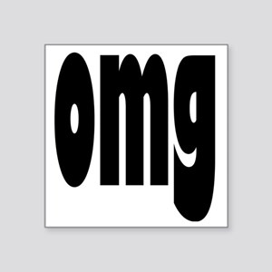 "omg pillow Square Sticker 3"" x 3"""