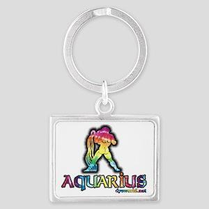 zodiac-aquarius Landscape Keychain