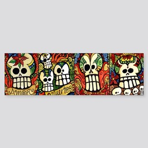Sugar Skulls Mug Wrap Around Sticker (Bumper)