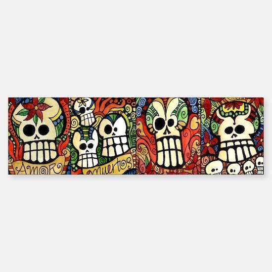 Sugar Skulls Mug Wrap Around Sticker (Bumper)